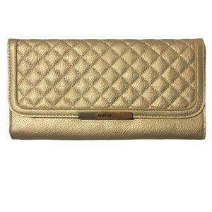 Gold Guess Clutch Wallet Bag